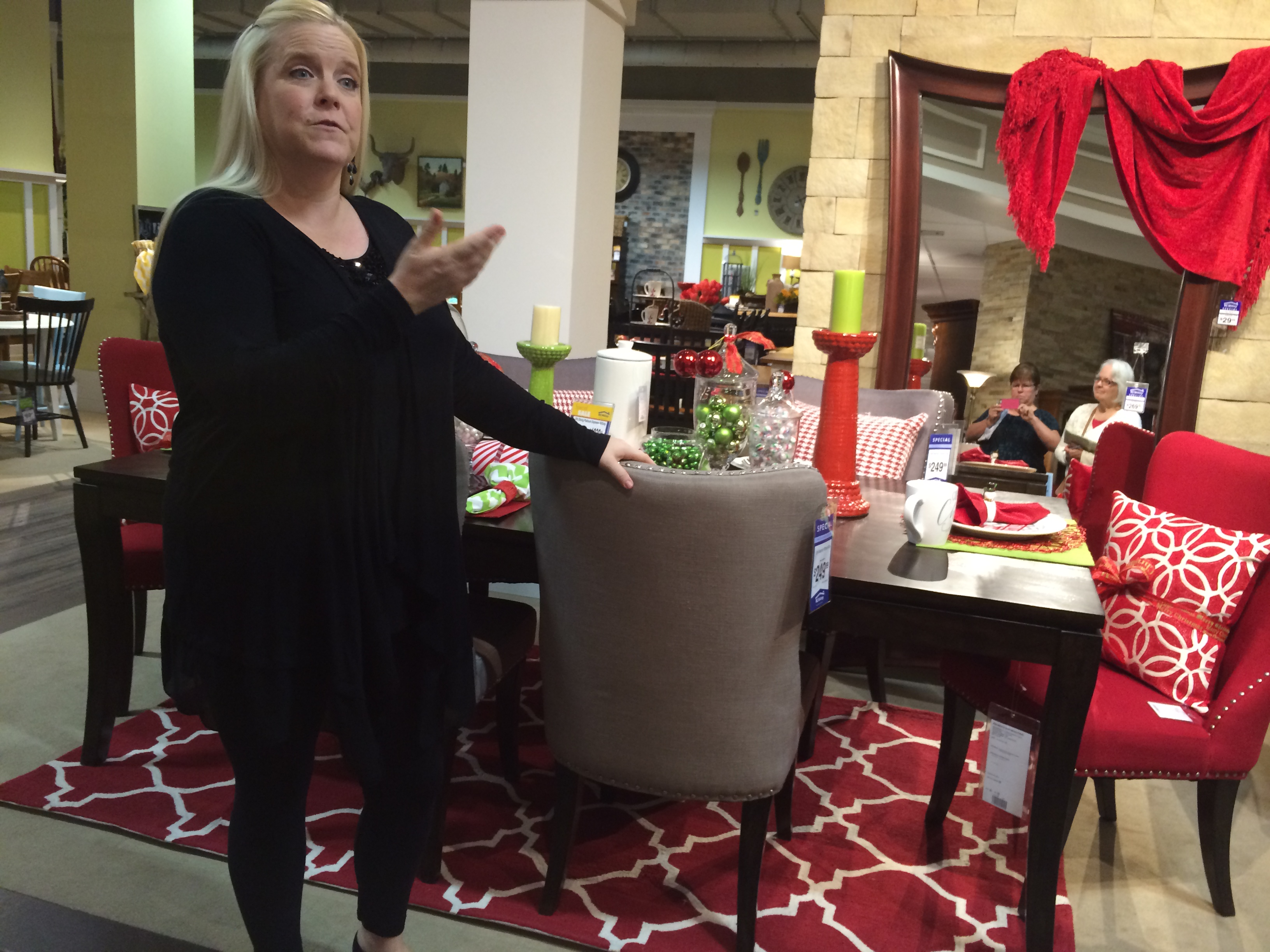 rc willey sectional small space sectional sofas leather grey store decorator jen dix created a christmas tablescape to show off some of the accent pieces and accessories at rc willey brandon