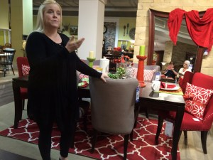 Store decorator Jen Dix created a Christmas tablescape to show off some of the accent pieces and accessories at  the store.