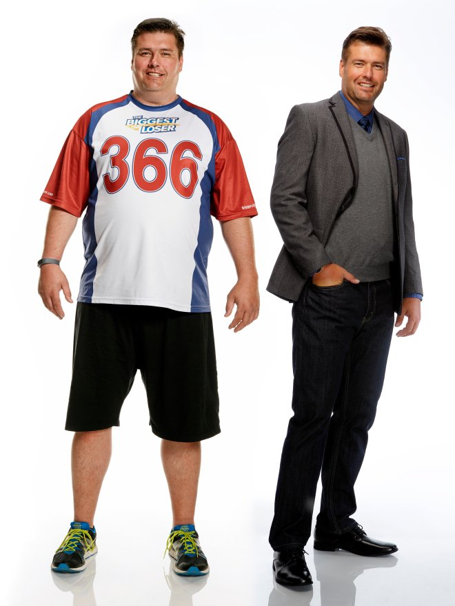 "Before-and-after shots of ""The Biggest Loser"" contestant Scott Mitchell."