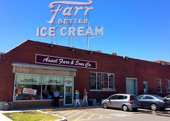 Farr Better Ice Cream, owned by the Farr family.