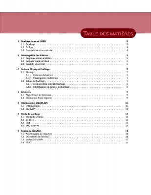 Exercices / Optimisation de bases de données