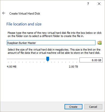 install raspbian stretch virtualbox