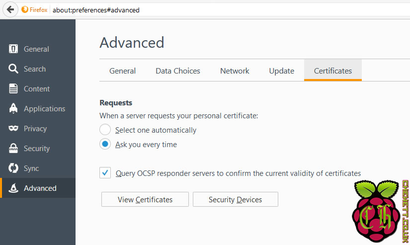 Installing A Root Certificate Authority In Firefox The Chewett Blog