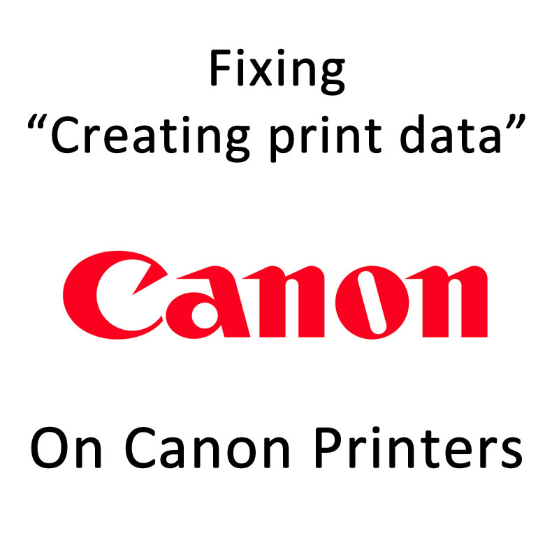 Canon printer stuck on