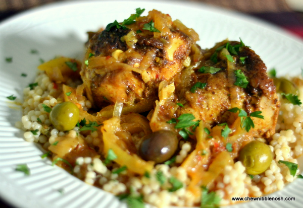 Moroccan Chicken Tagine With Olives Preserved Lemons And Couscous