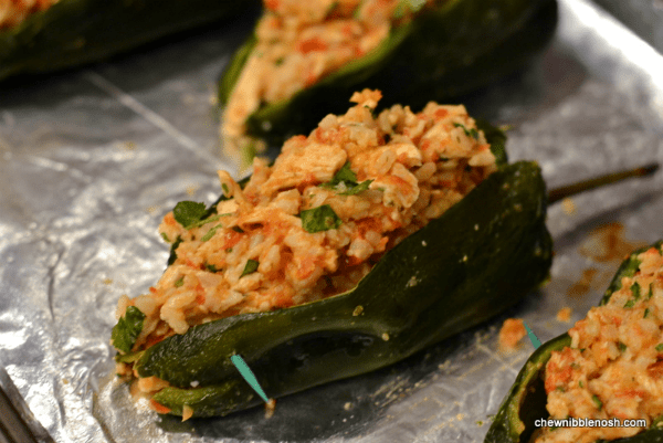Poblanos Stuffed with Cheddar and Chicken 6 - Chew Nibble Nosh
