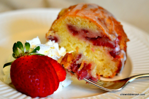 Fresh Strawberry Yogurt Cake - Chew Nibble Nosh