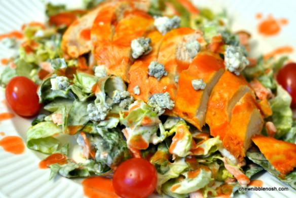 Buffalo Chicken Salad - Chew Nibble Nosh