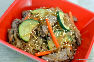 Stir Fried Noodles with Beef and Vegetables - Chew Nibble Nosh