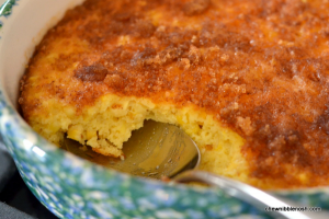 Choctaw Corn Pudding - Chew Nibble Nosh