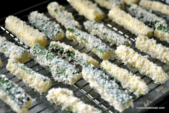 Crunchy Baked Zucchini Sticks 3 - Chew Nibble Nosh