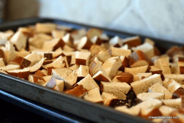 Kielbasa and Pretzel Breakfast Bake 1 - Chew Nibble Nosh