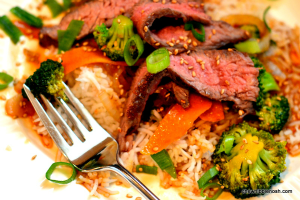 Five-Spice Orange Beef and Broccoli - Chew Nibble Nosh