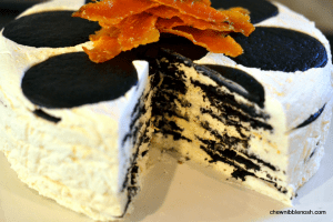 Icebox Cake with Orange-Caramel Cream - Chew Nibble Nosh