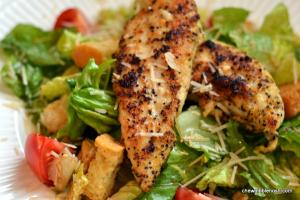 Quickie Chicken Caesar Salad - Chew Nibble Nosh
