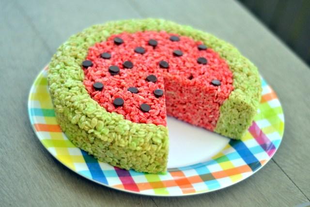 Tangy Watermelon Rice Krispie Treats