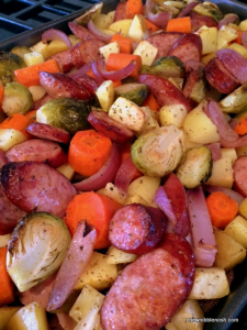 Roasted Apple, Vegetable and Kielbasa Bake #CookForHealthSeptember 1 - Chew Nibble Nosh