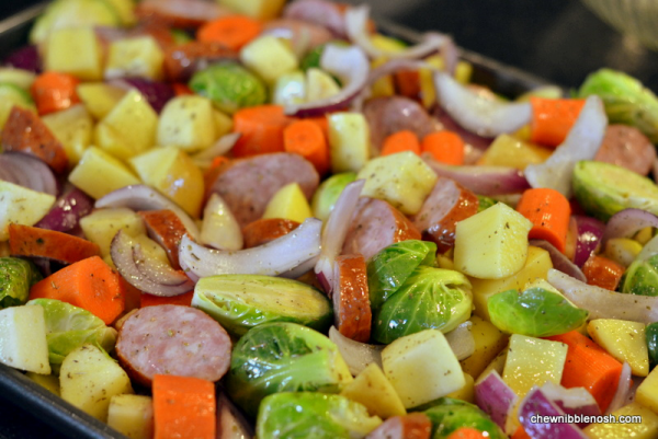 Roasted Apple, Vegetable and Kielbasa Bake #CookForHealthSeptember  3 - Chew Nibble Nosh