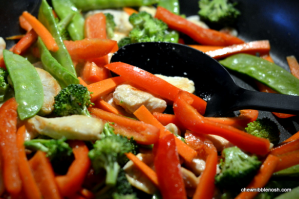 Sesame Chicken Stir Fry - Cooking with McCormick Skillet Sauces 3 - Chew Nibble Nosh