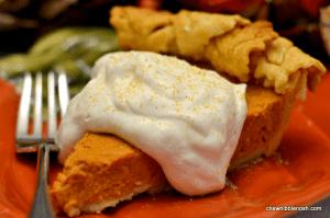 Sour Cream Pumpkin Pie - Chew Nibble Nosh