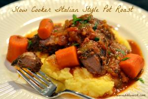 Slow Cooker Italian Style Pot Roast - Chew Nibble Nosh