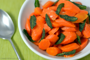 Braised Carrots with Crisp Sage - Chew Nibble Nosh 6