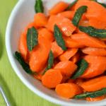 Braised Carrots with Crisp Sage