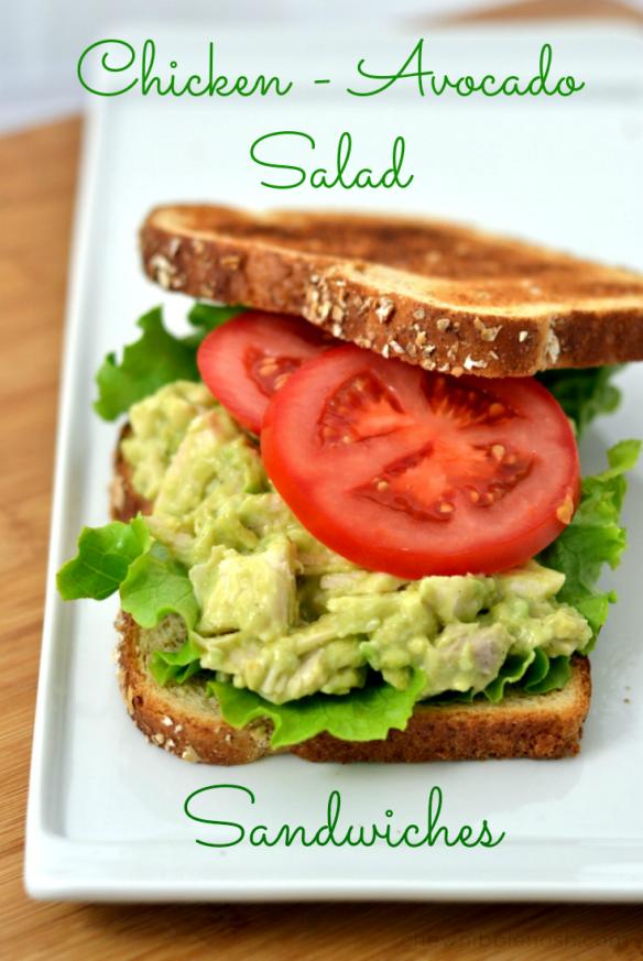 Chicken-Avocado Salad Sandwiches - Chew Nibble Nosh