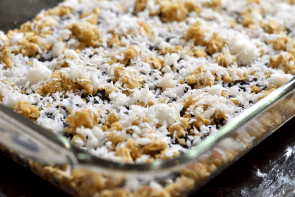 Oatmeal Coconut Raspberry Bars - Chew Nibble Nosh 4