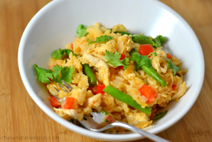 One Pot Coconut Chicken and Rice - Chew Nibble Nosh
