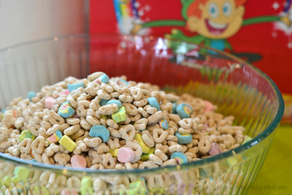 Lucky Charms Marshmallow Treats - Chew Nibble Nosh 1