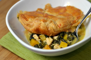 Skillet Chicken Pot Pie with Butternut Squash - Chew Nibble Nosh
