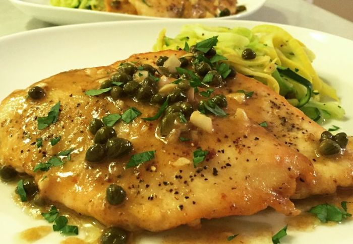 Grain Free Chicken Piccata