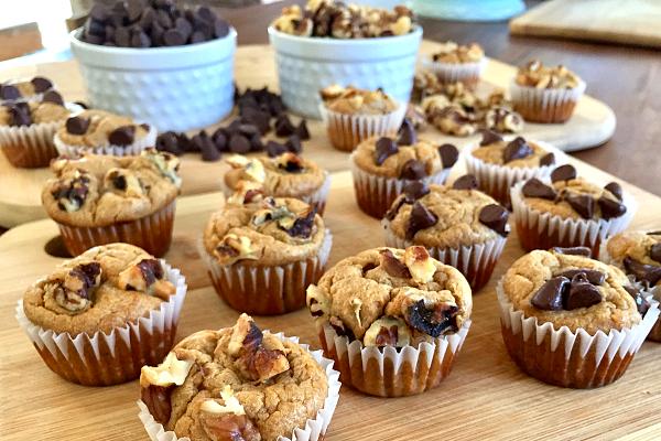 Flourless Banana Mini Muffins