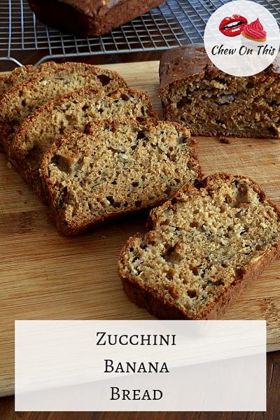 Zucchini Banana Bread | Grab a zucchini and an overripe banana, let's make an easy, moist, delicious loaf of zucchini banana bread with Greek yogurt!