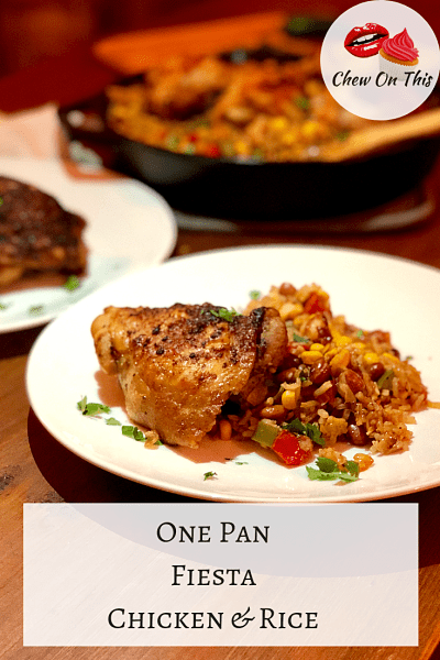 Easy One Pan Mexican Chicken and Rice | Packed with flavor and comes together in one pan...that's a reason to celebrate!