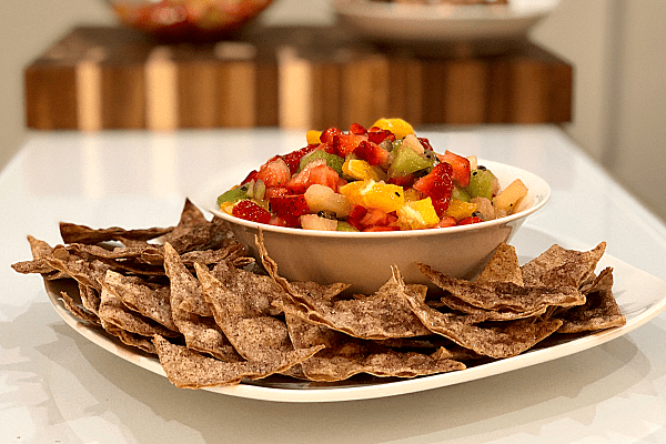 Cinnamon Crisps with Fruit Salsa