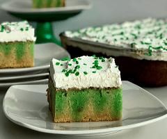St. Patrick's Day Lime Poke Cake