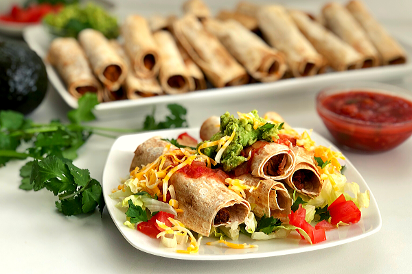 Oven Baked Pulled Pork Taquitos