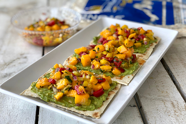 Flatbread Avocado Toast with Mango Salsa