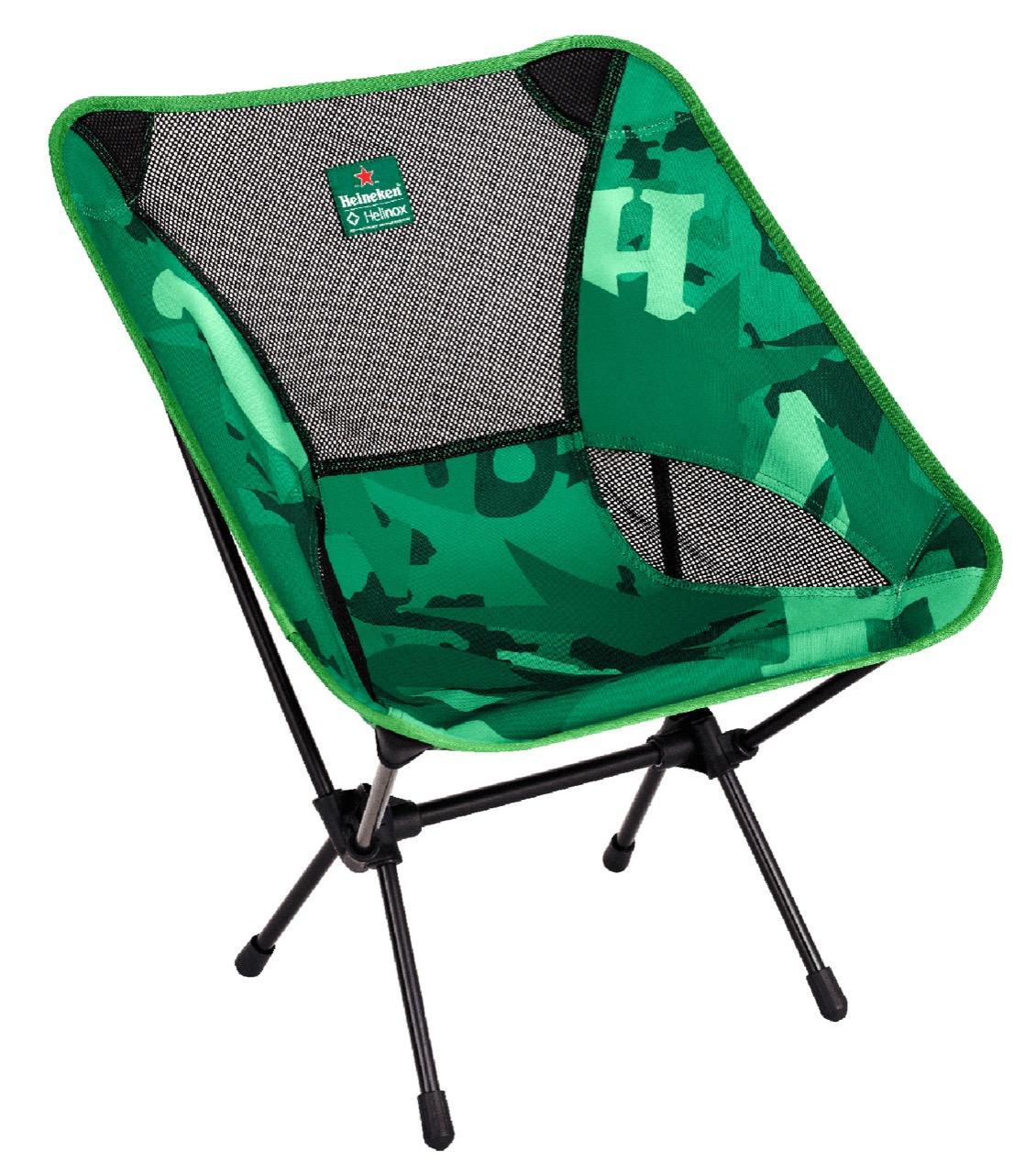 【產品資料照】heineken X Helinox Chair One 聯名輕量露營椅 1