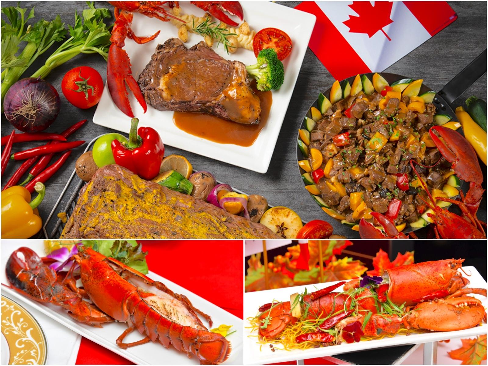 加拿大爐烤牛排與新鮮龍蝦