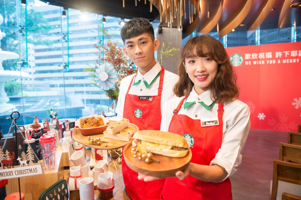 星巴克11月6日耶誕檔期也同步上市備受期待的星想餐名廚系列