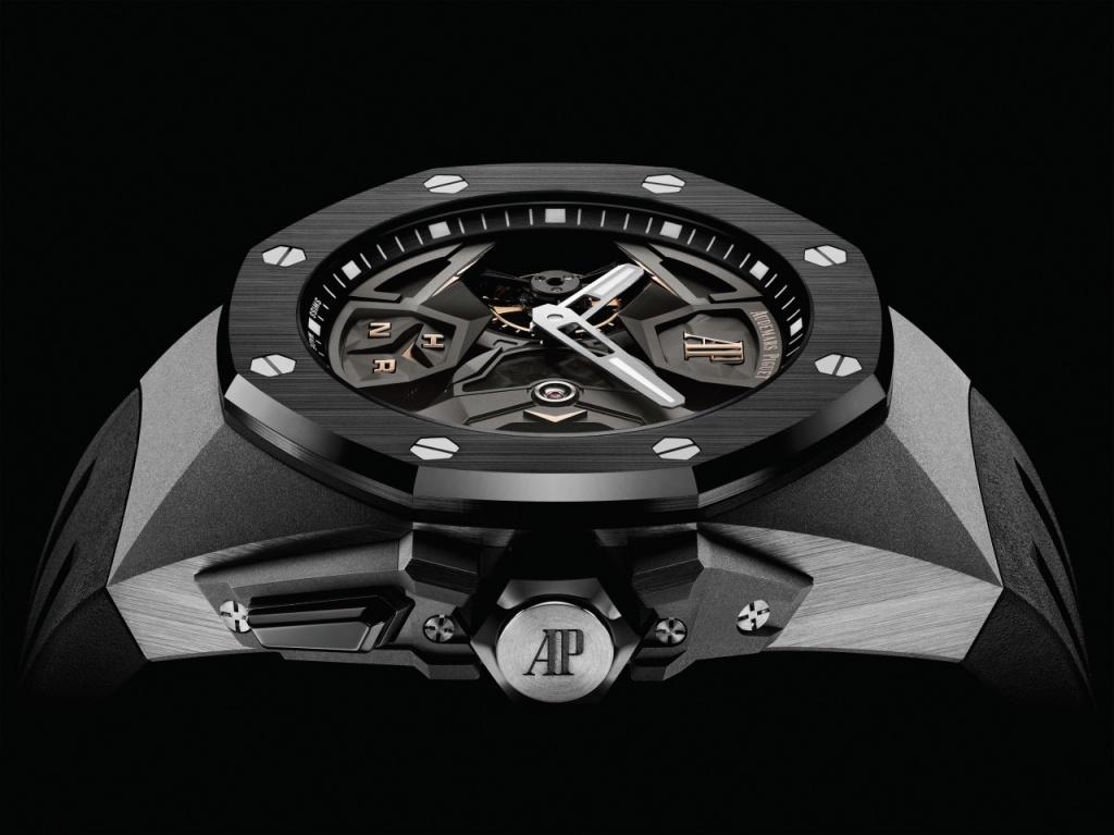 皇家橡樹概念系列 飛行陀飛輪雙時區腕錶