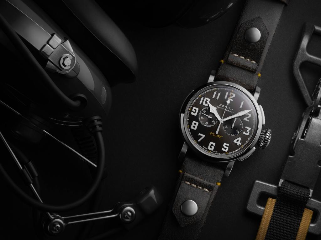 真力時pilot Type 20 Rescue計時腕錶以陽剛大氣的設計和復古新面貌,延續經典飛行員腕錶的傳奇