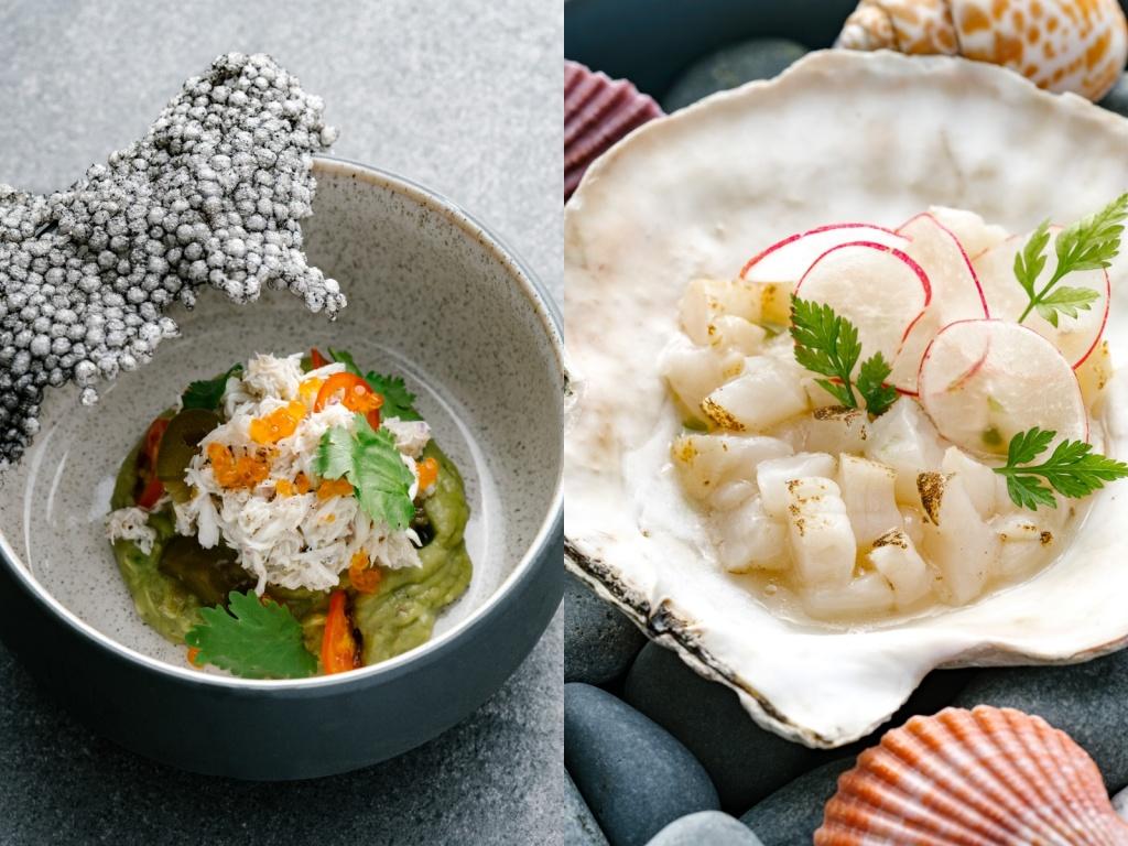 蟹肉塔塔&生醃干貝