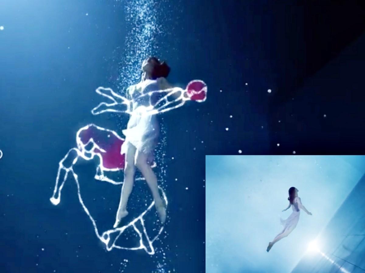 鍾瑶展現水中演技