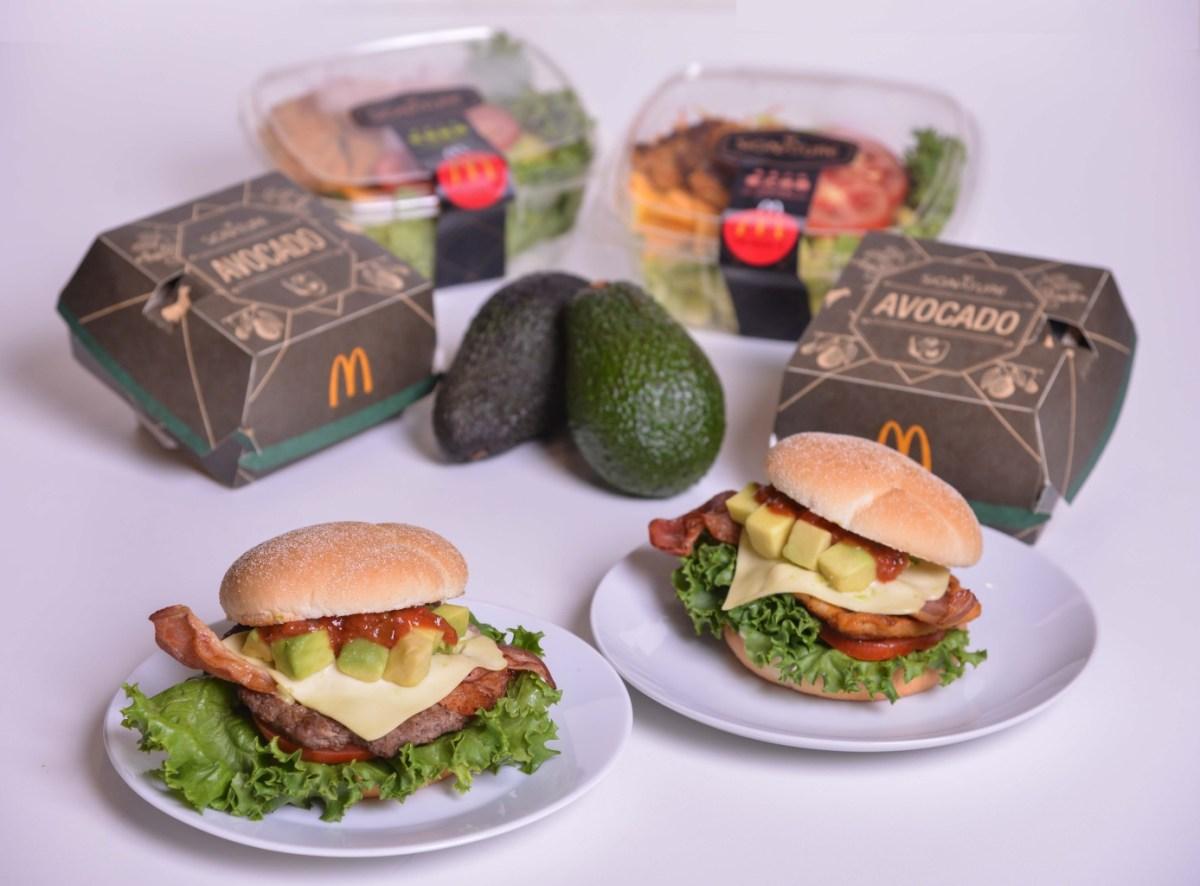 麥當勞「signature極選系列」首度使用哈斯酪梨原顆切丁入堡!無論搭配紐高溫鎖汁的四盎司安格斯黑牛或是嫩煎鷄腿