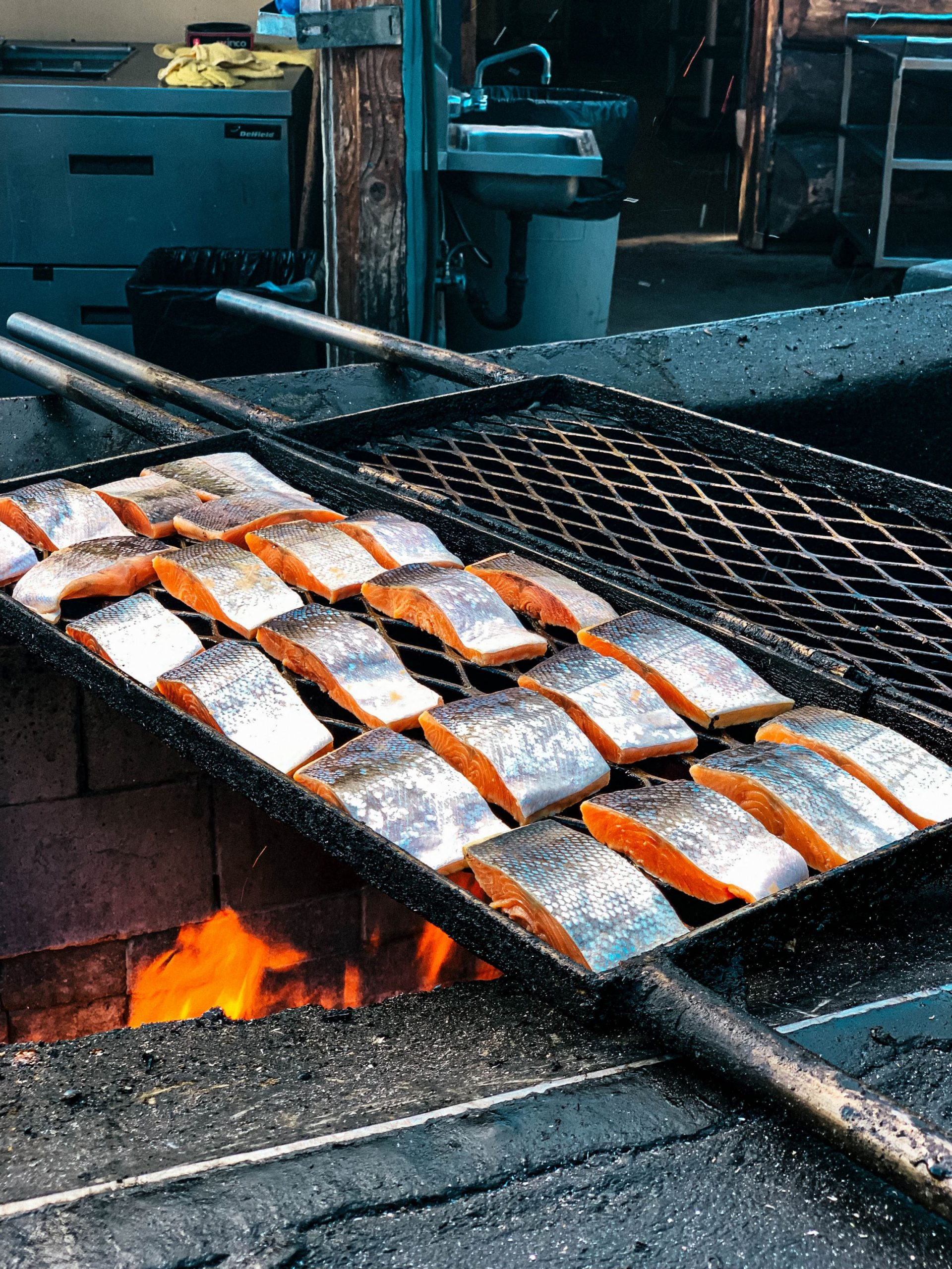 The Alaska Salmon Bake features Alaska seafood prepared with family recipes.