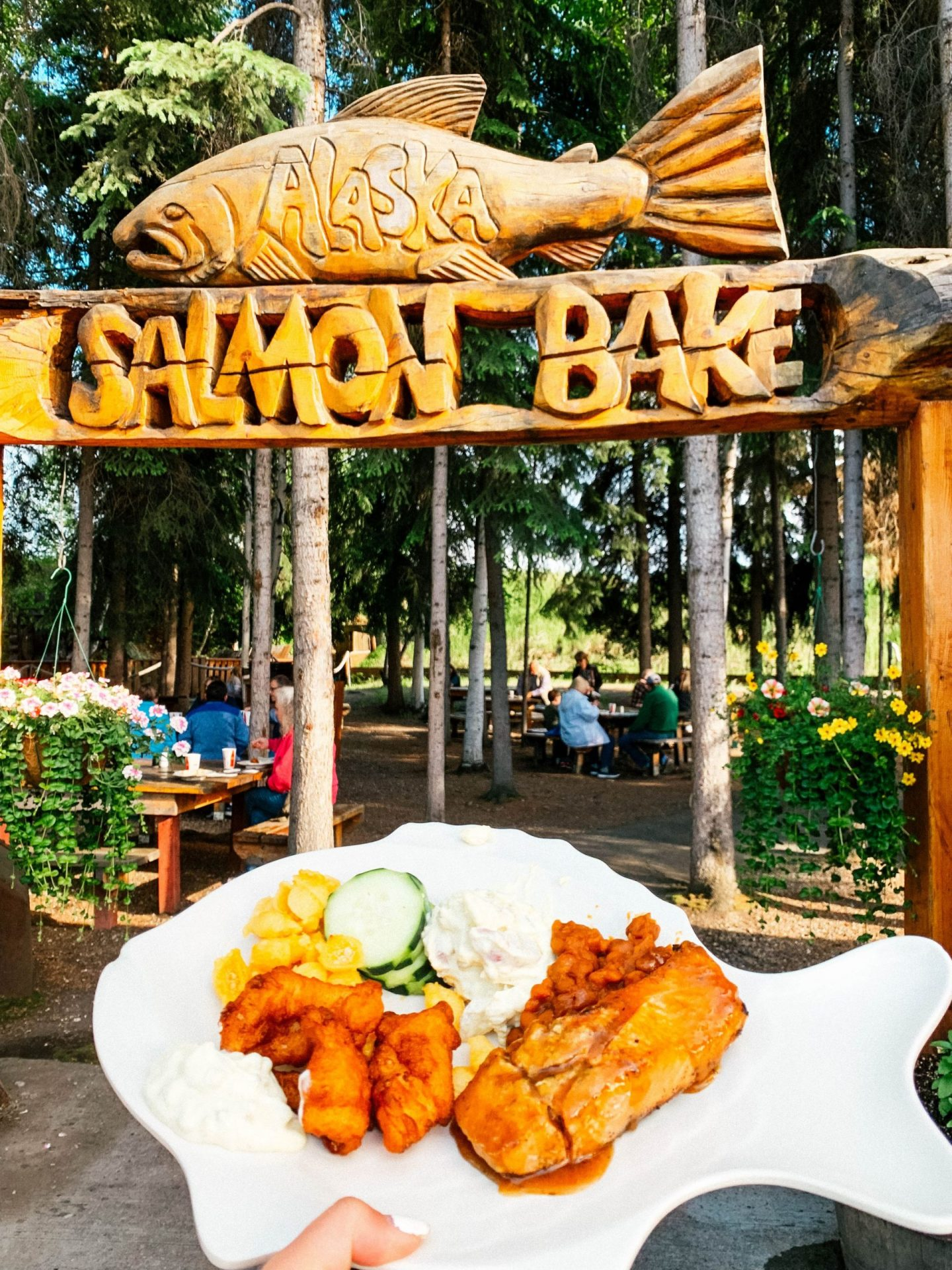 Pioneer Park is home to the Alaska Salmon Bake.